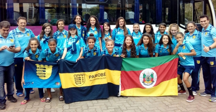Meninas parobeenses disputam competição nacional