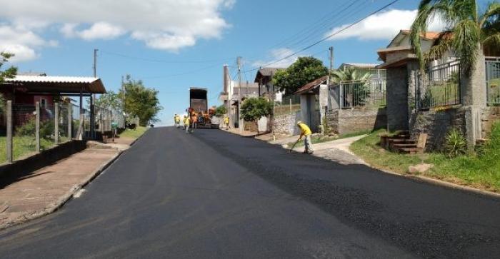 Previsto para 2018 mais asfaltos para Taquara
