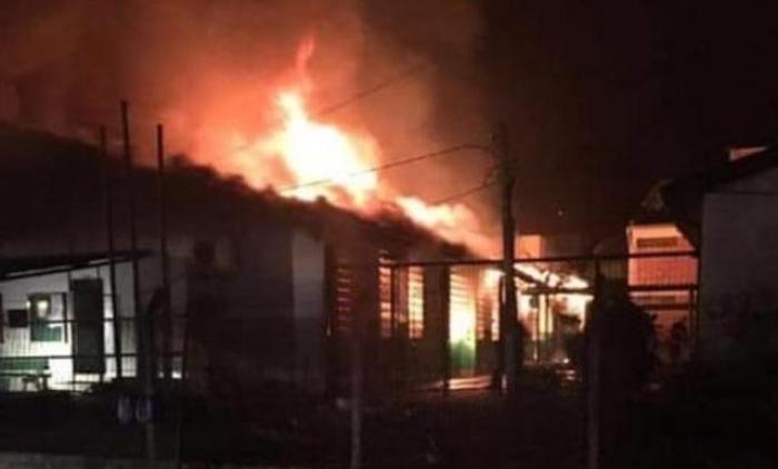 Incêndio destrói escola em Parobé