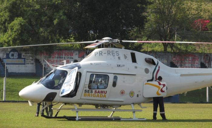 Samu Estadual faz transporte de gestante de alto risco de Parobé
