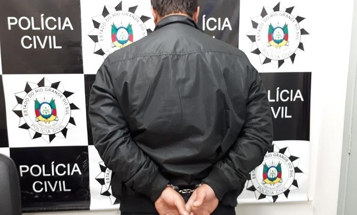 POLICIA CIVIL PRENDE O AUTOR DO HOMICÍDIO QUE OCORREU EM TAQUARA