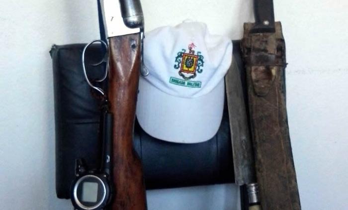 Brigada Militar de SÃO JOSE DOS AUSENTES PRENDE POR PORTE ILEGAL DE ARMA DE FOGO