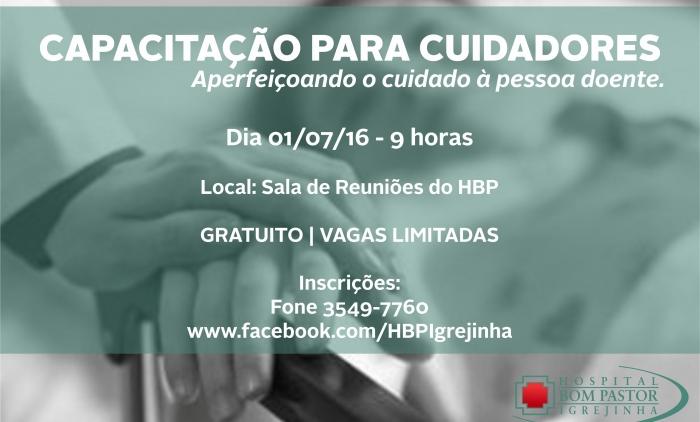 Hospital Bom Pastor oferece capacitação para cuidadores