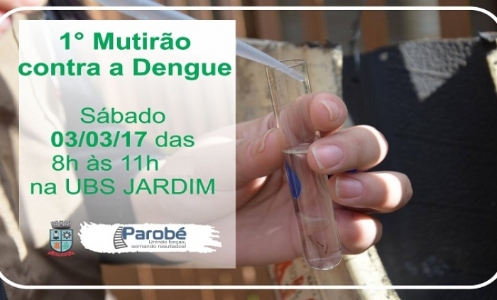 Vigilância Sanitária realiza 1° Mutirão contra a Dengue em Parobé