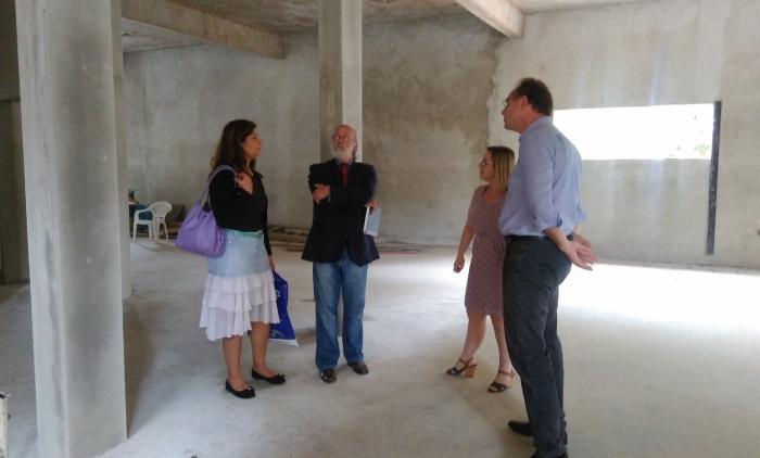 Delegada da 1ª CRS visita obras do Centro Cirúrgico do Hospital Bom Pastor