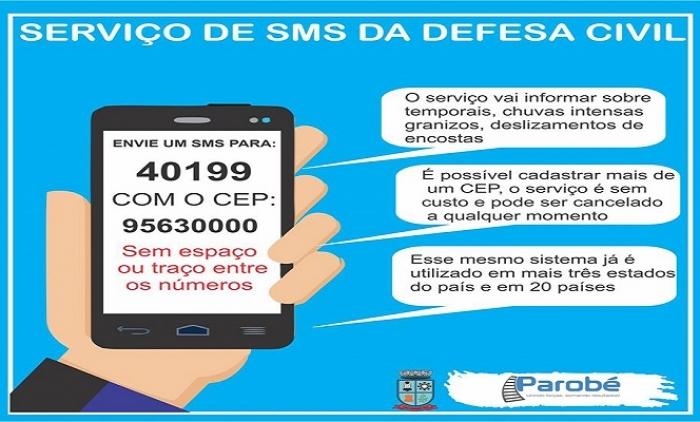 Informações sobre condições climáticas via SMS já estão disponíveis no Estado