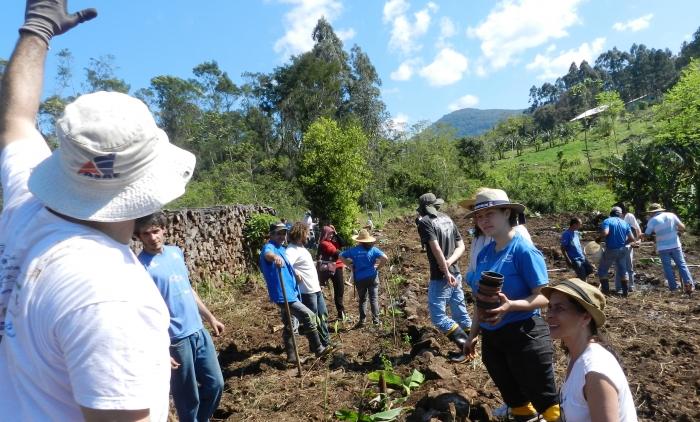 Oficina de instalação de Sistema Agroflorestal ocorreu em Igrejinha