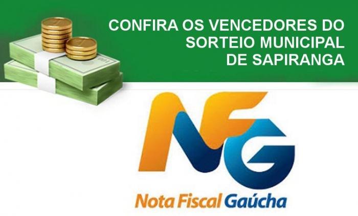 Sapiranga divulga premiados no Sorteio Municipal da Nota Fiscal Gaúcha