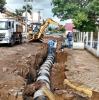Após alagamento, trecho da Pinheiro Machado passa por obras de encanamento